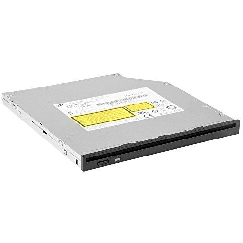 SilverStone SST-SOD04 - Internes optisches Slim DVD-RW-Laufwerk mit austauschbarer Frontblede für 9,5 mm und 12,7 mm Standard, schwarz