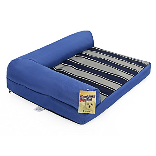 Songmics-Dog-Sofas-Bed-M-68-x-53-x-18-cm-600D-Oxford-Cloth-Removable-and-Washable-Pet-Mattress-Blue-PGW68B