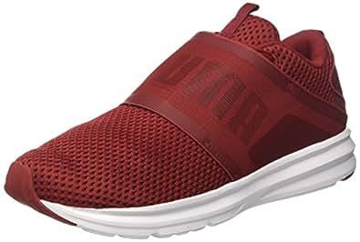 Puma Men's Enzo Strap Mesh Red Dahlia-Black Running Shoes - 11 UK/India (46 EU)(19048102)