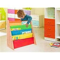 BD-UK Kids Childrens Bookcase Rack Children Colourful Sling Storage Bookshelf Nylon Fabricated to Protect Childrens Childrens Bookshelf Bookcase Storage