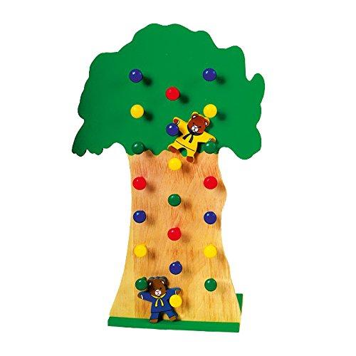 Purzelbären aus Holz, 2 niedliche Bären purzeln lustig den Baum hinab, fördert die Motorik des Kindes, ab 3 Jahren