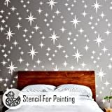 8-PUNKT STAR GRUPPE Wand Schablone für Malerei - Wand Groß