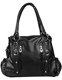 15115: Howdy Women Leather Handbags (Black)