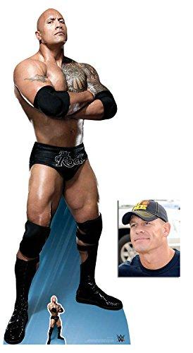 (BundleZ-4-FanZ The Rock Dwayne Johnson Arms Crossed WWE Wrestler Lebensgrosse und klein Pappfiguren/Stehplatzinhaber/Aufsteller - Enthält 8X10 (25X20Cm) starfoto)