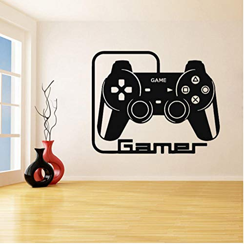 Wall Sticker Play game controllers and quotes Waterproof Wall Paper for Bedroom Living Room TV Background Decor Mural Art Decal Home Decor 56x71cm