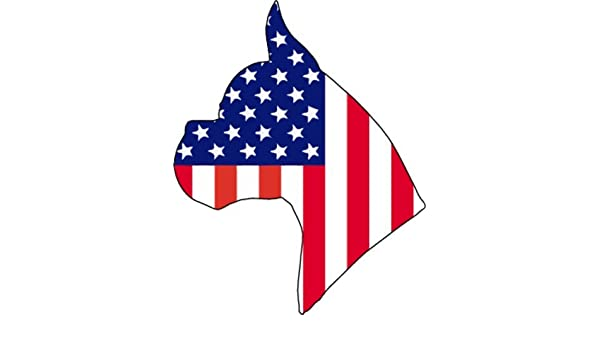 Perfect Boxer Gift WickedGoodz American Flag Boxer Head Vinyl Refrigerator Magnet