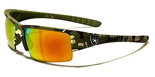 Khan Sonnenbrillen Sport - Radfahren - Skifahren - Running - Moto - Militär / Power Camo Grün