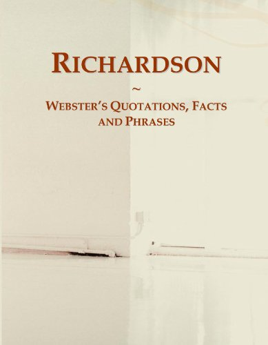 Richardson: Webster's Quotations, Facts and Phrases