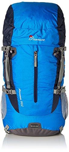 Mountaintop 50L Trekkingrucksäcke Reiserucksack Wanderrucksack mit Regenhülle, 72 x 34 x 22 cm Blau