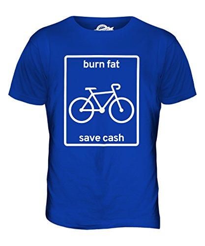 CandyMix Radfahren Burn Fat Save Cash Herren T Shirt Königsblau