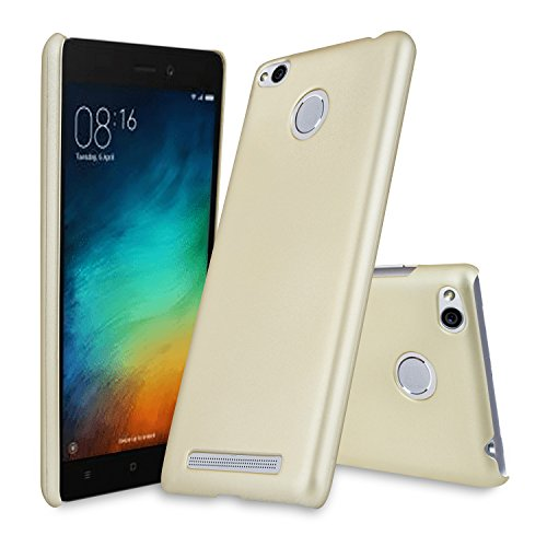 Parallel Universe Xiaomi Redmi 3S Prime Back Cover Case Premium Smooth Rubberised Matte Finish Hard PC backcover- Gold