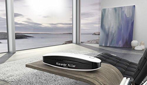 Philips M6651WB Luceo schnurloses Telefon mit Anrufbeantworter (4,6 cm (1,8 Zoll) Display, HQ-Sound) schwarz/weiß - 6