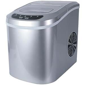 Jago Macchina produttore ghiaccio macchina cubetti di ghiaccio ice maker colore a scelta (argento)