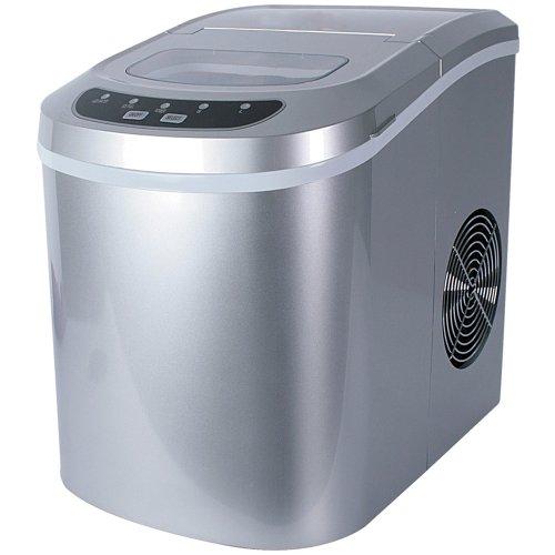 Jago Eiswürfelmaschine inkl. Eiswürfelschaufel (2 verschiedene Eiswürfelgrößen, 12 kg pro Tag), Eiswürfelbereiter mit LED Funktionsanzeige (220-240V)
