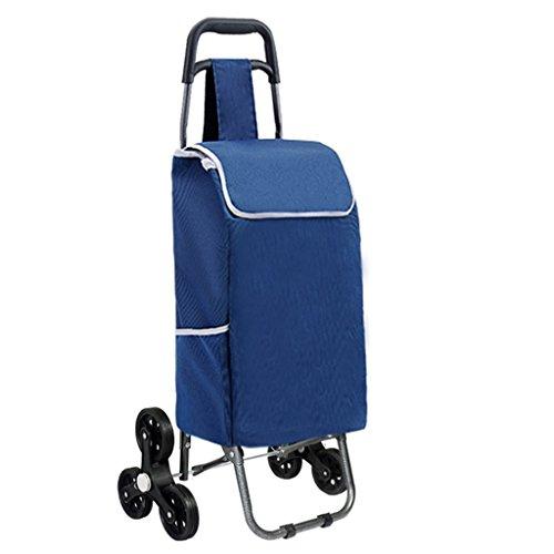 Trolley Handwagen Haushalt Treppen Einkaufswagen Faltbare tragbare Wagen Wasserdichte Oxford-Taschen können 75 kg Gewicht standhalten (Farbe : C)