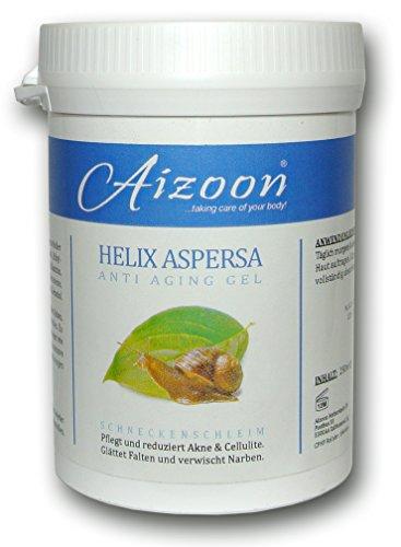 2x Aizoon 250ml Schneckengel Schneckenschleim Schneckencreme Anti Aging Gel Narben Cellulite Creme BEKANNT AUS DEM SAT1 FRÜHSTÜCKSFERNSEHEN