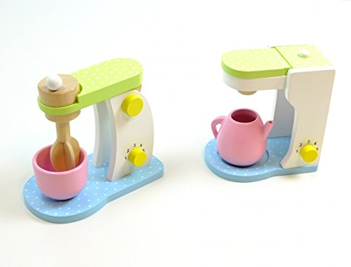 JaBaDaBaDo Haushaltsset: Küchenmaschine + Kaffeemaschine/Mixer mit drehbaren Rührstab, inkl. Rührschüssel Kaffeemaschine + Kaffeekanne