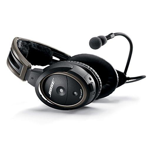 Bose ® 324843-2040 A20 Aviation Headset mit 6-polig Stecker Lemo-Stecker schwarz (Mp3 Aviation Headset)