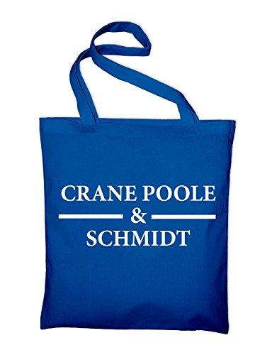 Boston Legal Crane Poole Schmidt Jutebeutel, Beutel, Stoffbeutel, Baumwolltasche, maroon Royalblau