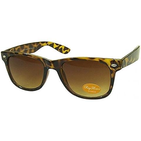 Tartaruga Fashion Designer Geek Nerd 80'S occhiali da sole unisex, misura media