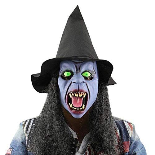 Masken beängstigend Jason Voorhees Horror-Kostüm Blood Creepy Spooky Latex (Schrei Hexe) ()