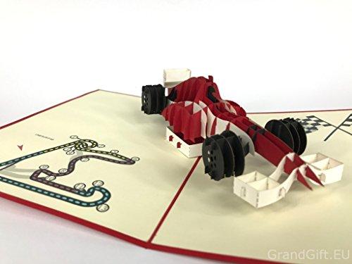 F1, Formula One, Jeep, Land Rover, Landmark Big Ben, Pop Up Grußkarte Mercedes-Benz Auto Jahrestag Baby Happy Geburtstag Ostern Mutter Thank You Valentine's Day Hochzeit Kirigami Papier Craft Postkarten