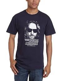 Big Lebowski THE DUDE ABIDES Navy T-shirt