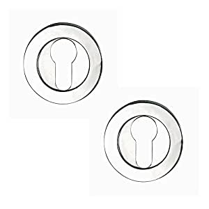 Excel Hardware Designer Euro Escutcheon Set - Polished Chrome