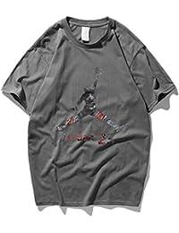 save off 4f7b5 523e0 GXYGWJ Tee-Shirt de Basket-Ball Jordan Jordan avec col Rond et Manches  Courtes