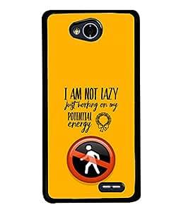 PrintVisa Designer Back Case Cover for LG L70 :: LG L70 Dual (Lazy Potential Energy Stop Sign)