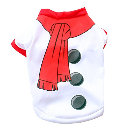 Pet Dog Cat Fashion Snowman Style Clothes Puppy Christmas Costumes Apparel