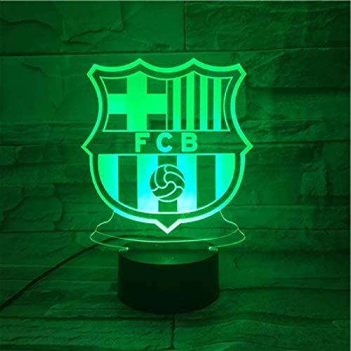 Led Nachtlicht 3D Illusion Lampe, Fan-Memorabilien Der Fußballnationalmannschaft Von Barcelona, 7 Farbwechsel Led Usb Schlafzimmer Licht Kind Geschenk Acryl Stereo Vision 3D Lampe