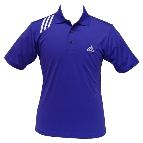 Adidas Herren ad013piwhs ClimaCool 3Stripe modernes Polo, pirahna/weiß, klein (Pique Polo-shirts Climacool)