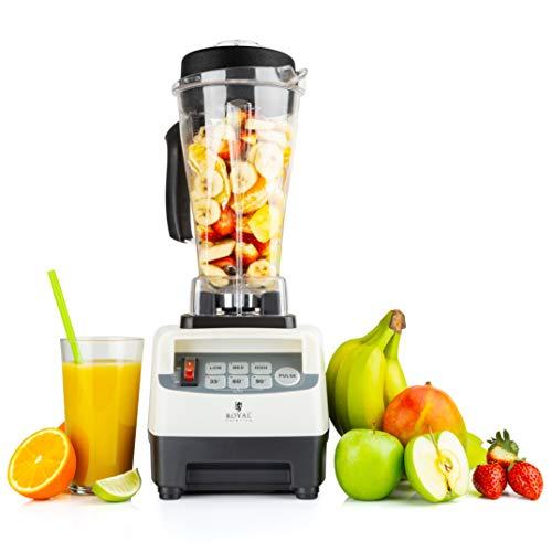 Royal Catering Katana Standmixer Hochleistung 1500W 38000 U/min Smoothie Maker Blender Mixer 2,5l 6 Klingen Pulse Funktion Timer