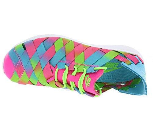 Nike - W Juvenate Woven Prm, Scarpe sportive Donna Blu (Azul (Gamma Blue / Pnk Blst-Elctrc Grn))