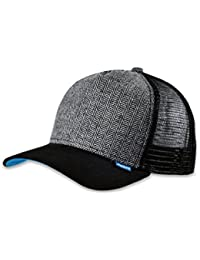 DJINNS - Tweed Combo (black) - High Fitted Trucker Cap