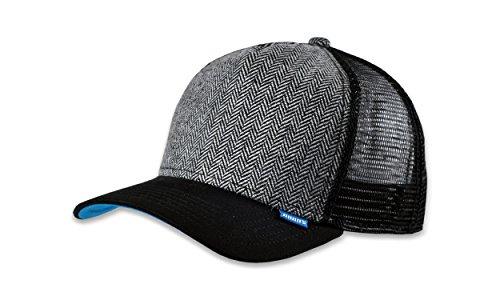 DJINNS - Tweed Combo (black) - High Fitted Trucker Cap