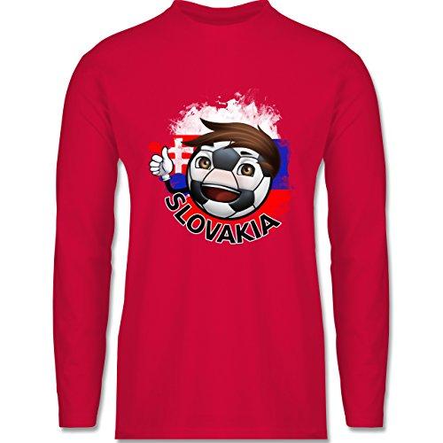 EM 2016 - Frankreich - Fußballjunge Slowakei - Longsleeve / langärmeliges T-Shirt für Herren Rot