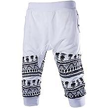 Hombres Pantalones de Chándal Deporte de Los Pantalones Cortos Holgados del Harem de Baile Los Pantalones de Entrenamiento