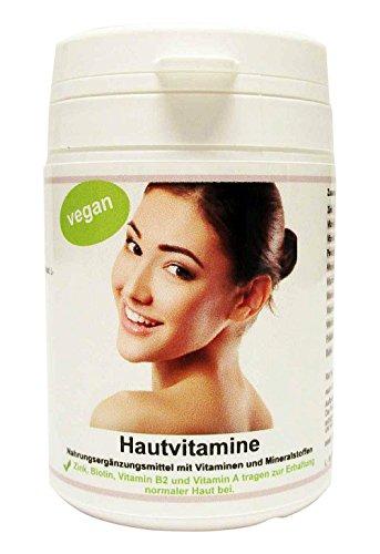 my-mosaik Haut Vitamine für reine Haut und kräftiges Haar - Zink, Vitamin C, OPC, Biotin, Vitamin B2, Vitamin A, Pantothensäure, Folsäure, 60 vegane Kapseln