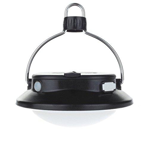 Suboos Unisexe 2 1 2 3 3 Gen 2 ultime Camping Lantern-the Plus professionnel LED Tente Available-super lumineux 280 Lumens-3 Mode-outdoor Durable-light Angle Adjustable-flexible Option-water Resistant-cell téléphone 2 piles rechargeables 18650, 1 à suspendre Clips inclus, Noir
