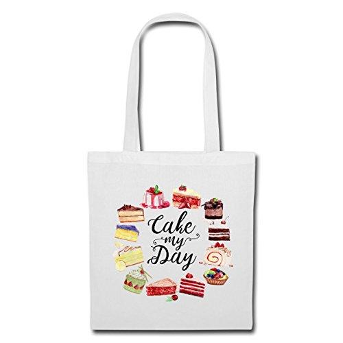 Spreadshirt Kuchen Cake My Day Torten Stoffbeutel Weiß