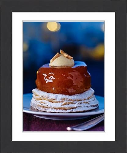framed-print-of-a-puff-pastry-cake-with-glazed-apple
