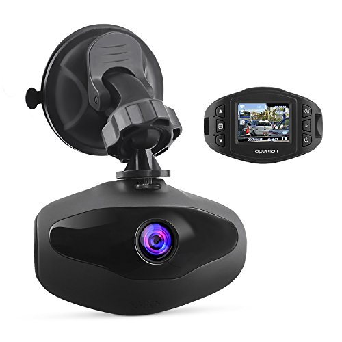 APEMAN Mini Autokamera Dashcam 1080P Full HD Video Recorder mit Sony Sensor, 650NM Objektiv, WDR, Loop-Aufnahme, Bewegungserkennung, Parkmonitor und G-Sensor