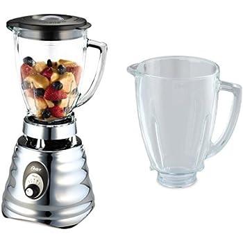 Oster - batidora de vaso Clásica 600W y jarra de vidrio redonda - 0004655ESP + BLSTAJ