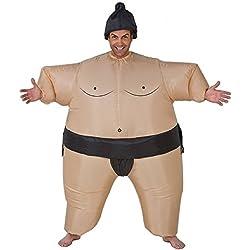 GiggleBeaver Traje de sumo inflable para Halloween - novedad de traje de grasa de lucha