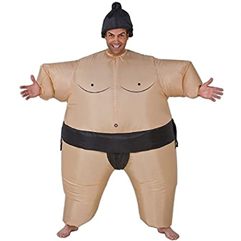 Inflatable Sumo Wrestling Fat Suit Blow Up Fancy Dress Funny
