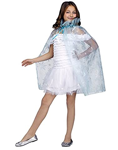 Snowflakes Costumes For Kids - Fun World Sparkle Snowflake Cape Child One