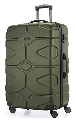 HAUPTSTADTKOFFER - X-Kölln - Hartschalen-Koffer Koffer Trolley Rollkoffer Reisekoffer, TSA, 76 cm, 120 Liter, Olivgrün matt