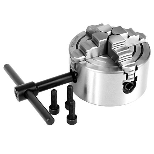 K72-80 Mandril de 4 Mordazas Mandíbula Independiente y Reversible Accesorios para Torno de Metal Máquinas de Torneado 4000r/min